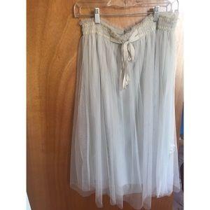 Lauren Conrad Tulle Midi Skirt